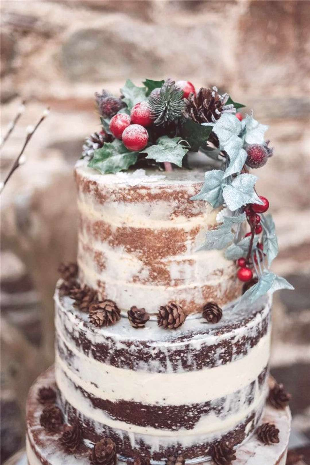 25 Winter Wedding Cake Ideas For Your Big Day 25 Winter Wedding Cake Ideas For Your Big Day#Cakes