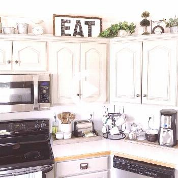 """Cottage Country Corner on Instagram: """"Do you decorate above your kitchen cabinets? ? I always"""