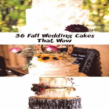 Fall Wedding Cakes That WOW ★ fall wedding cakes white decorated with pearls and hand painted yel