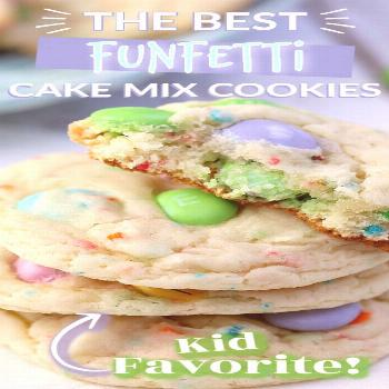 FUNFETTI CAKE MIX COOKIES These FUNFETTI CAKE MIX COOKIESare one of my favourites, I just love th