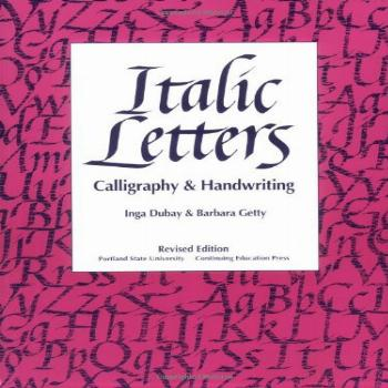 Italic Letters Calligraphy and Handwriting