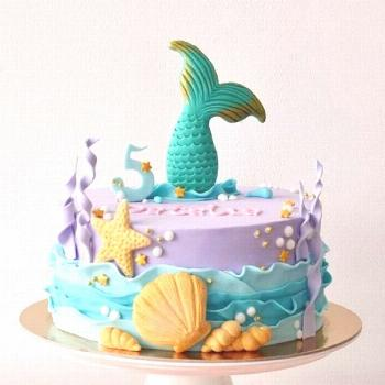 Lovely mermaid cakes ideas for birthday party - -