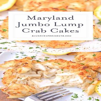 Maryland Crab Cakes Recipe -  Maryland Crab Cakes are made with jumbo lump crab meat with little fi