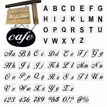 Stencil Letters for Painting On Wood Alphabet Letter with