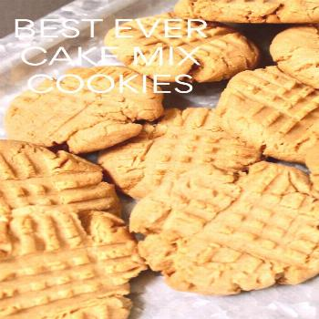 These peanut butter cookies are so good and no one has to know that they are cake mix cookies. Made