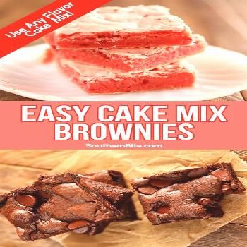 Turn that random box of cake mix in the back of the pantry into these delicious Easy Cake Mix Brown