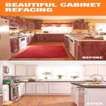 With cabinet refacing, you can update both the color and style of your cabinets....#cabinet
