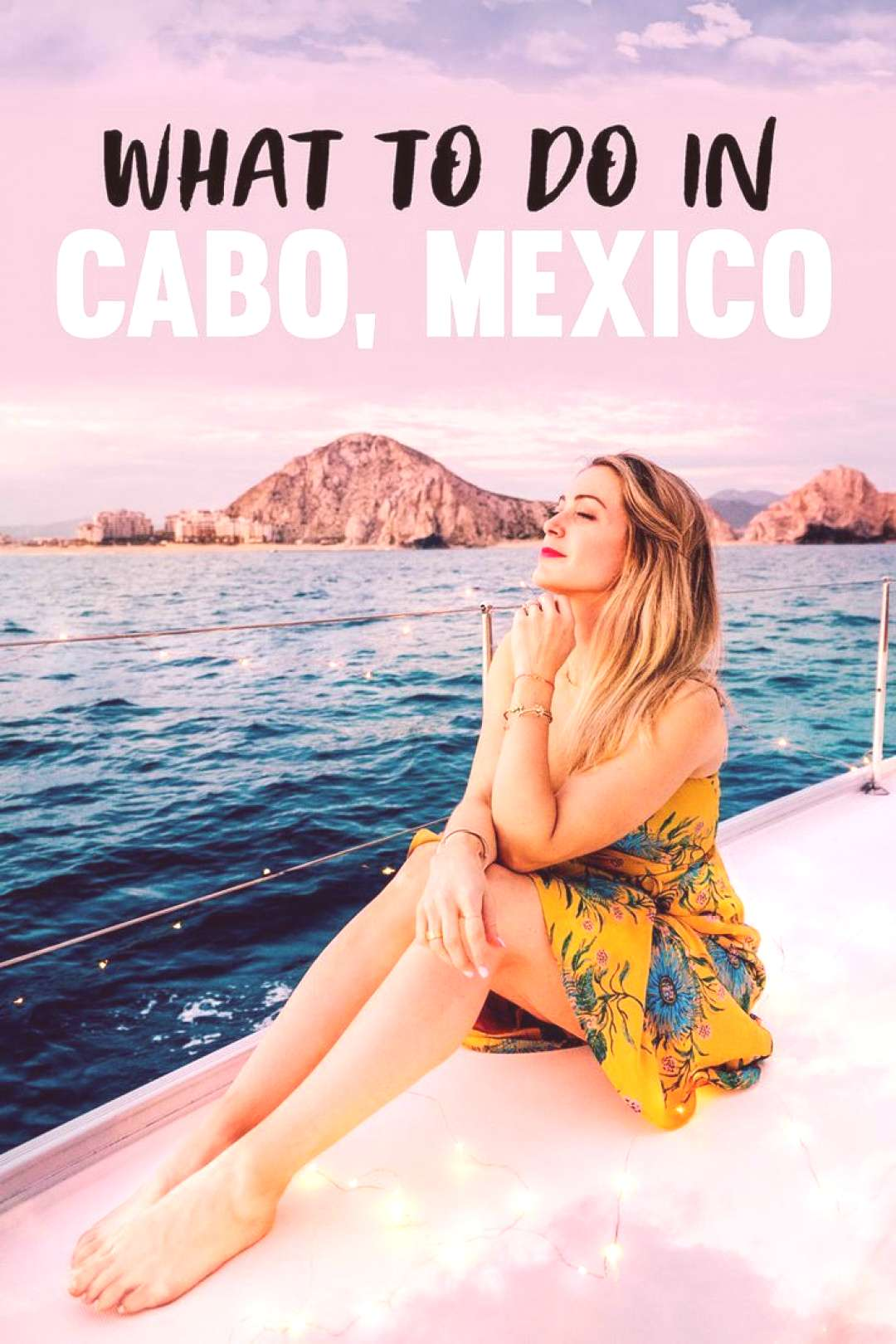A Side of Sweet - An SF Life + Style Blog Things to Do in Cabo, Mexico - Sunset Boat Ride Cabo Adve