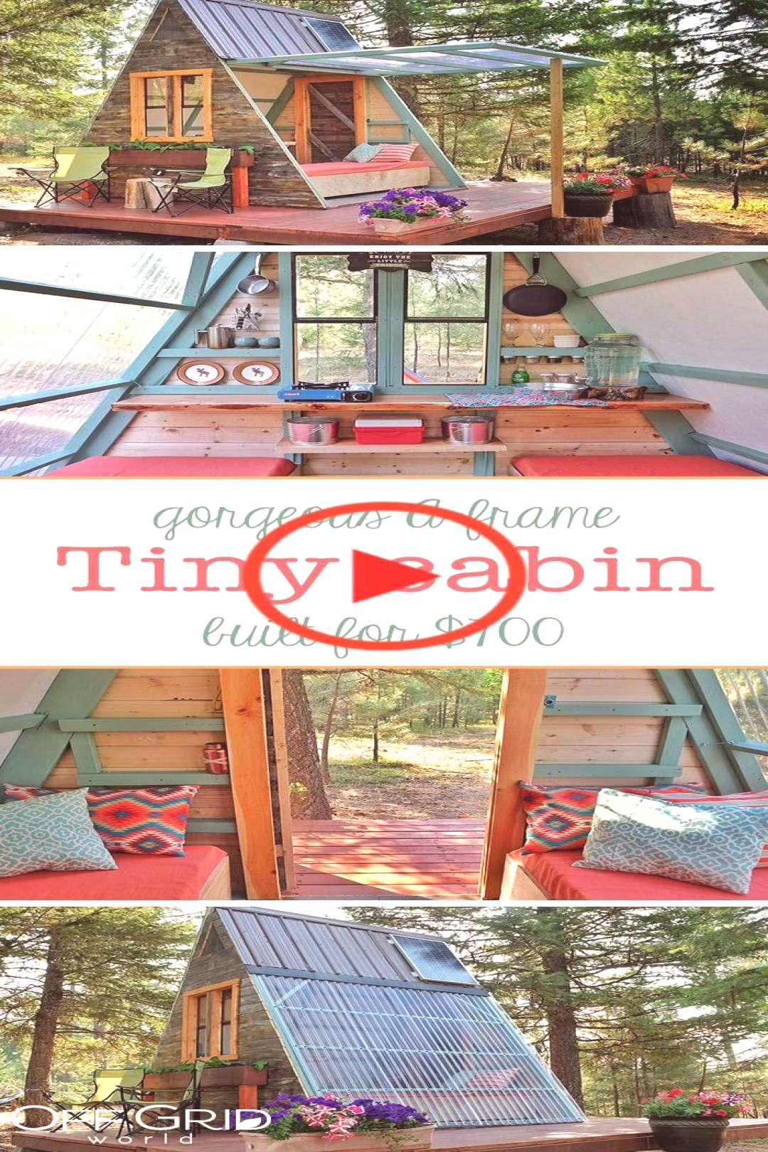 A-Frame Tiny Guest Cabin in Montana Built for $700 At just 80 square feet, this solar powered A-fra