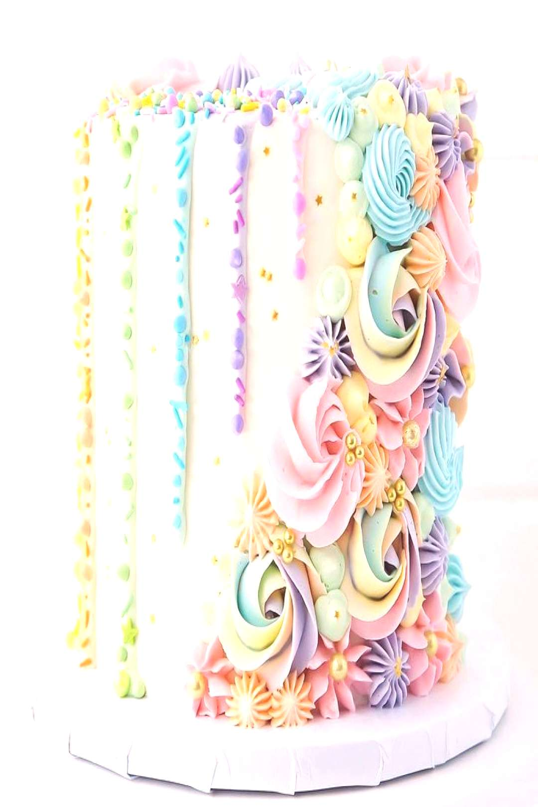 """Brittany May Cakes on Instagram """"So happy I had the opportunity to make this pastel rainbow cake"""