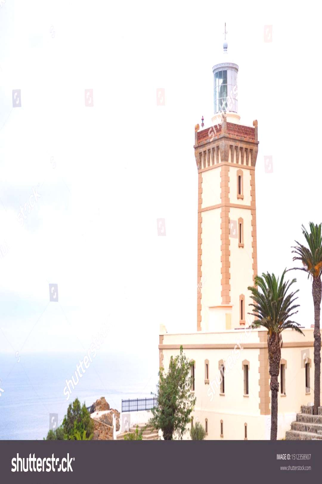 Cabo Espartel lighthouse in the north coast of Morocco ,