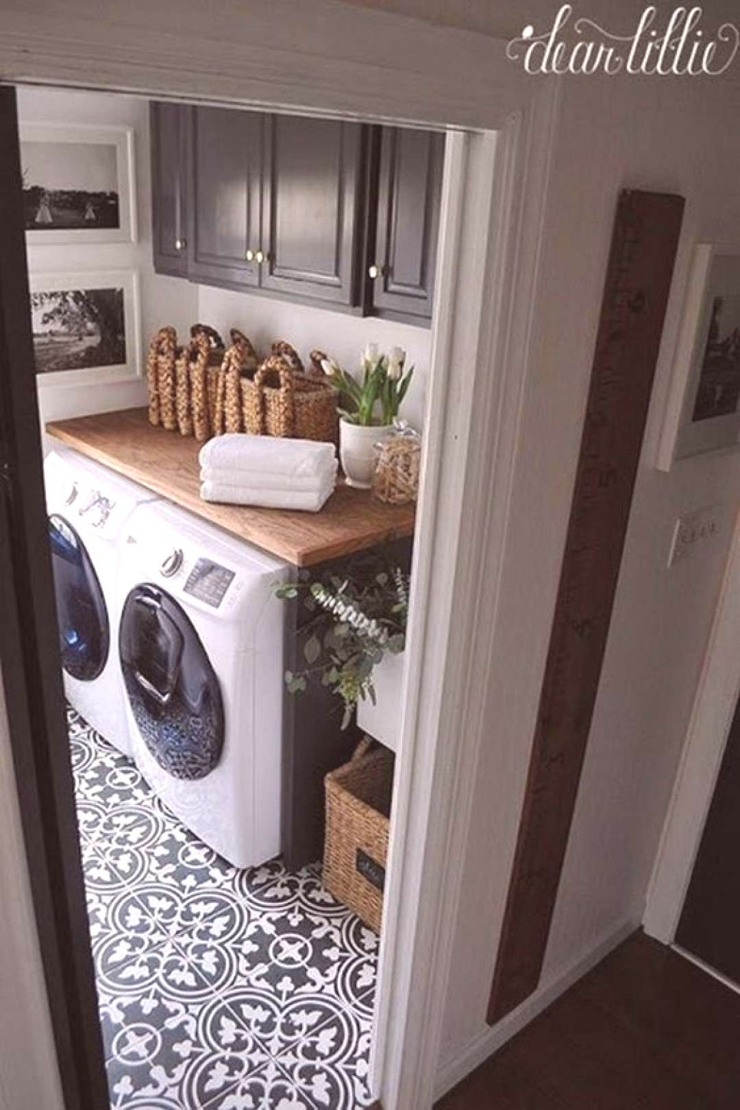 Decorating A Laundry Room On A Budget 2 above washer and dryer diy 40 Perfect Decorating A Laundry