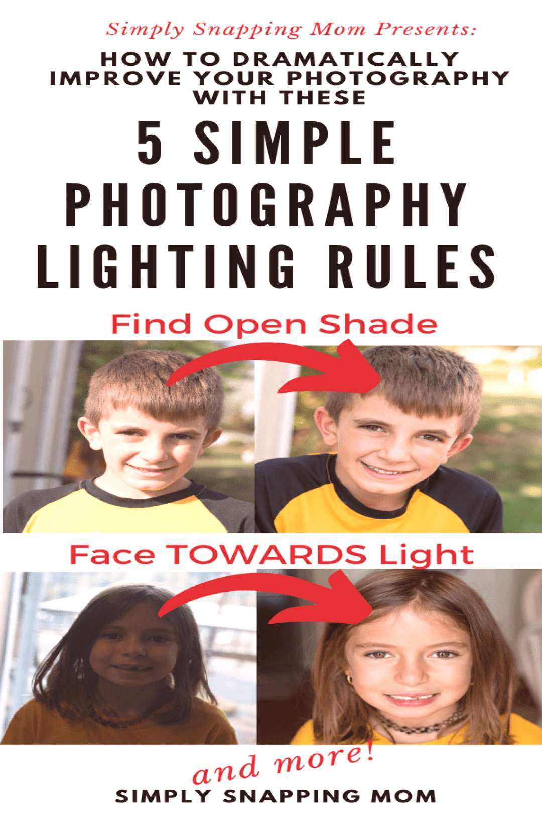 Dramatically transform your photography by following these 5 simply lighting rules, whether you are
