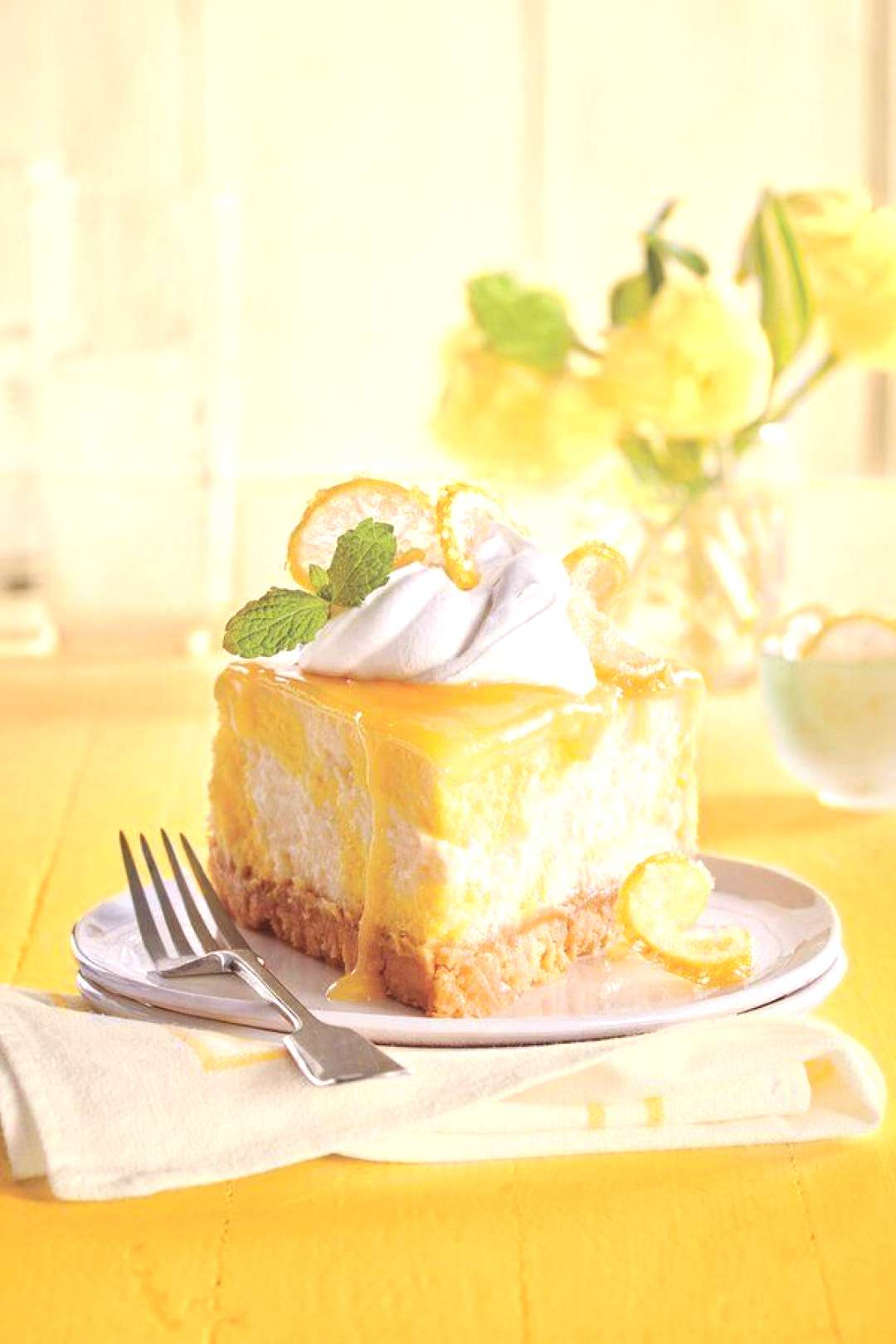 Dreamy Lemon Cheesecake Dreamy Lemon Cheesecake | quotThis creamy cheesecake is packed with lemon tast
