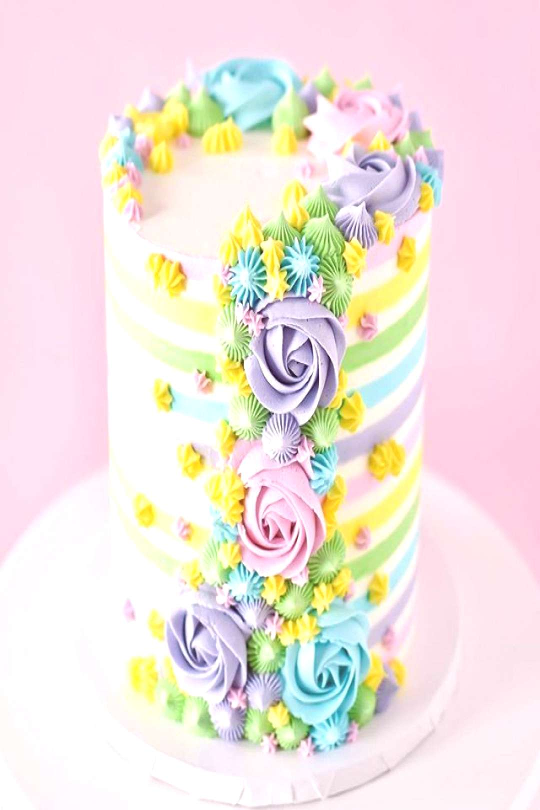 Easter colours Cake Thanks to brittanymaycakes for sharing All the Easter colours cake design idea