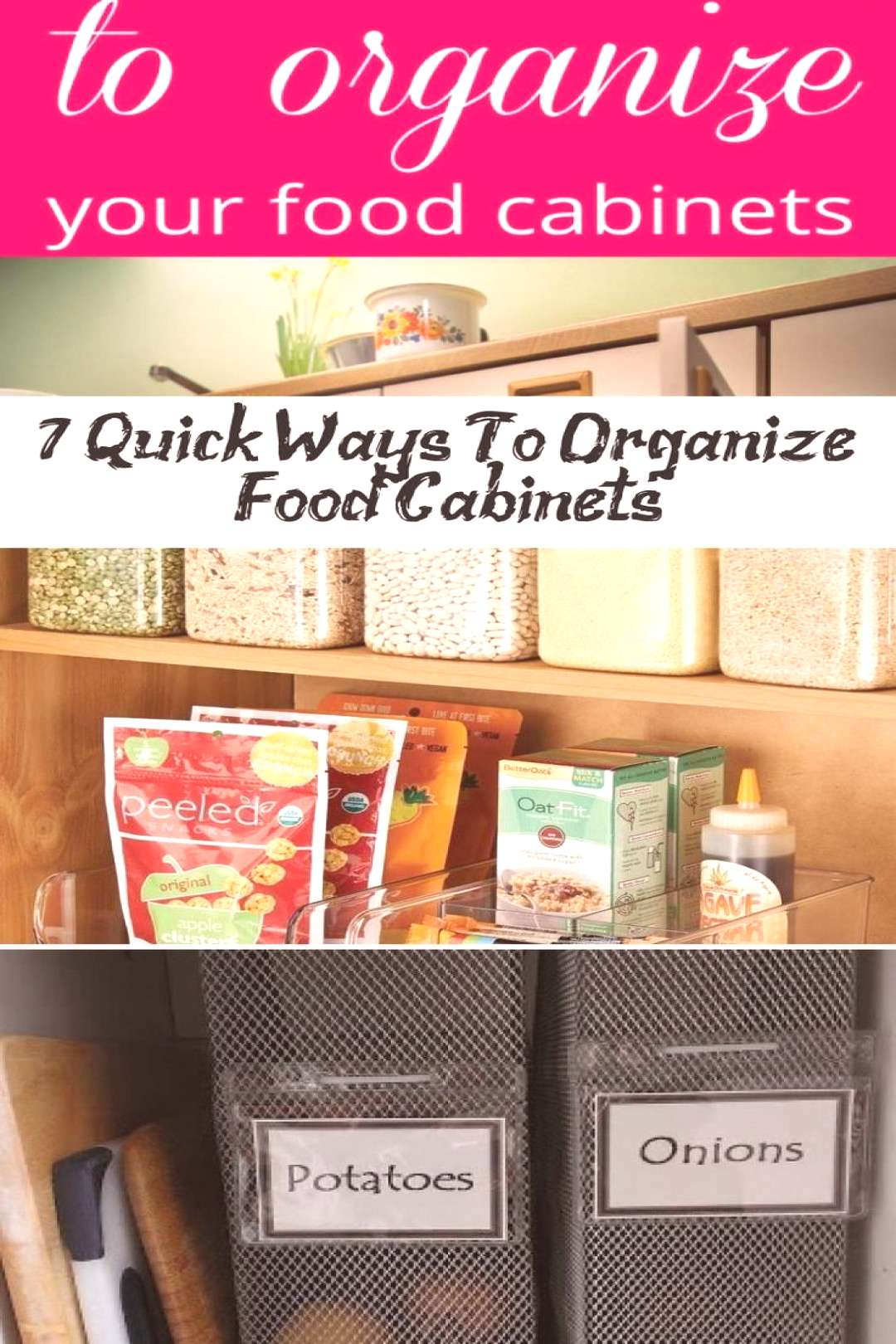 FOOD ORGANIZATION - Want to get rid of the chaos in your kitchen cupboards? Che... - Kids Recipes F