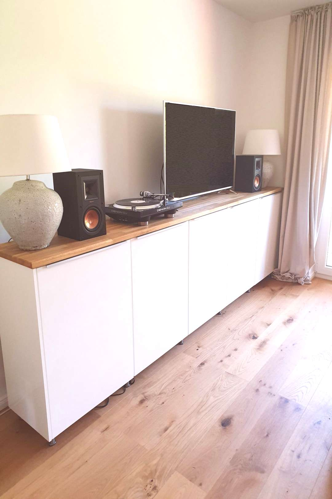 Great sideboard made from IKEA Metod cabinets#cabinets
