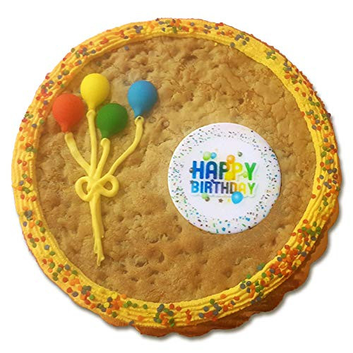 Happy Birthday Cookie Cake 2 LB / 10 Inch - Chocolate Chip -