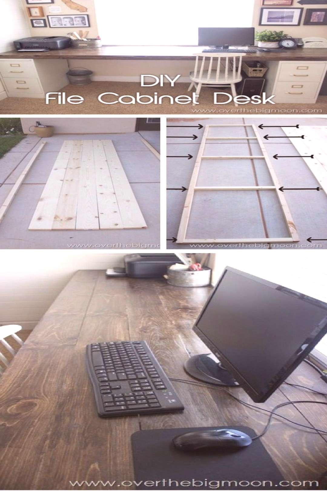 How do I install? desk made of filing cabinets and wooden planks. Great P ... - How do I install?