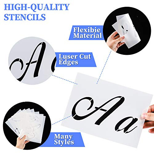 Letter Stencils for Painting on Wood-Alphabet Stencils with