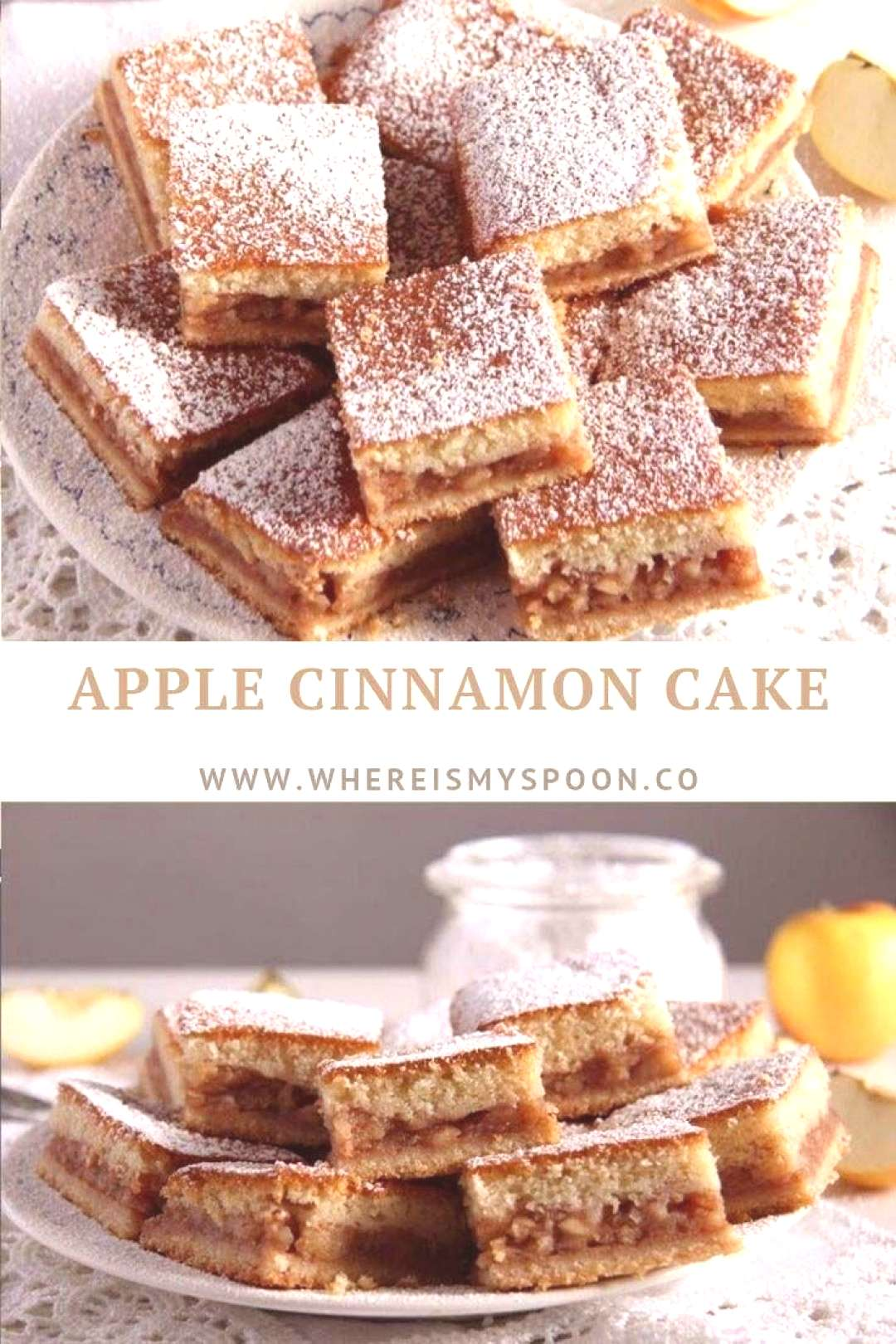 Moist and easy to make apple and cinnamon cake, this could become your favorite apple cake.