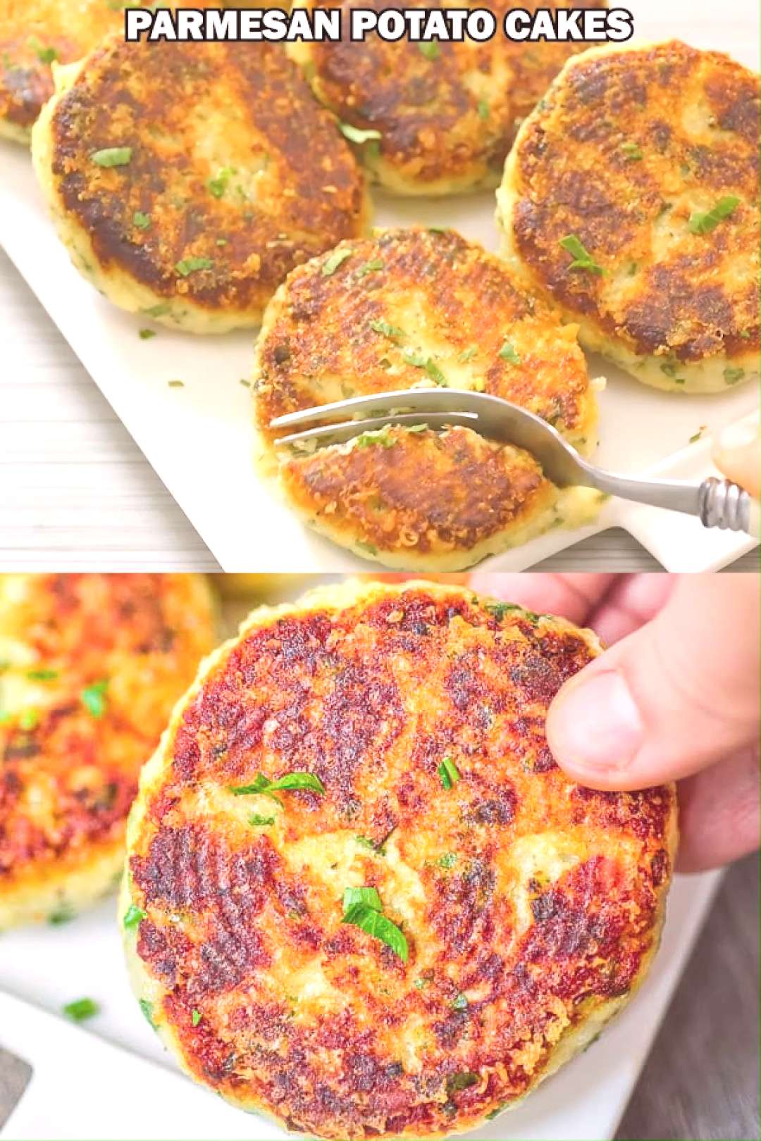 Parmesan Mashed Potato Cakes - Of all the new recipes I've made recently, these Parmesan Potato