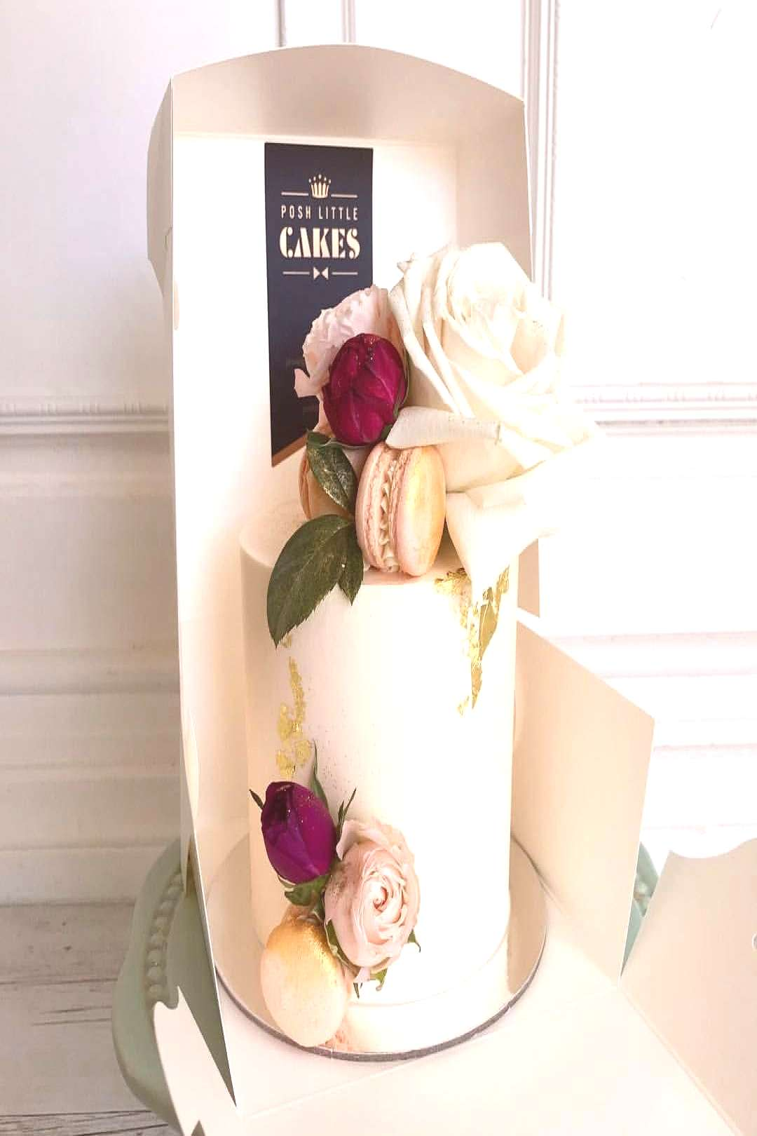 """Posh Little Cakes on Instagram """"This elegant 4""""mini cake for a special 70th celebration on the"""