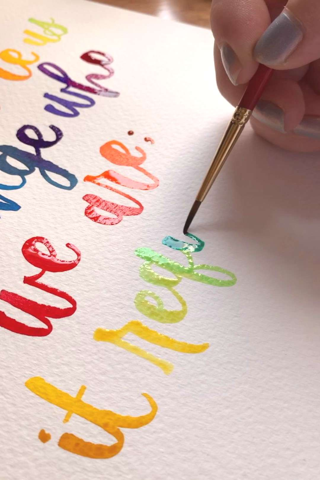Real time watercolor lettering ? I'm always so mesmerized by real-time watercolor lettering! W