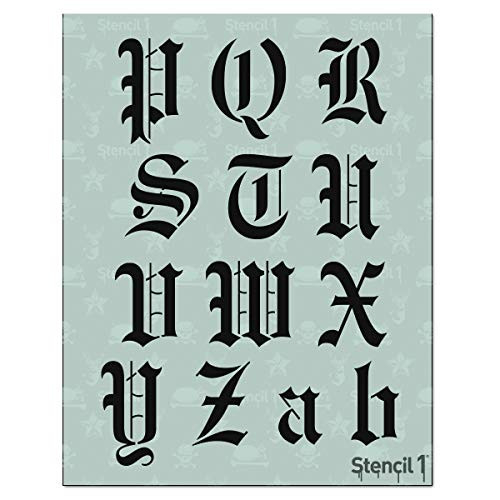 Stencil1 Letter Stencils 2quot - Old English Calligraphy