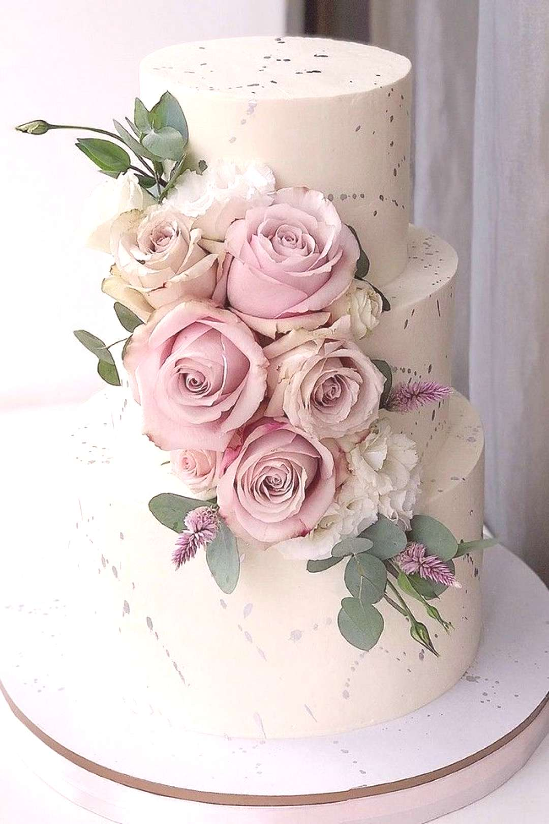 The 20 Most Beautiful Wedding Cakes   My Deer Flowers - Cake - Real Flowers amp Fruits#beautiful