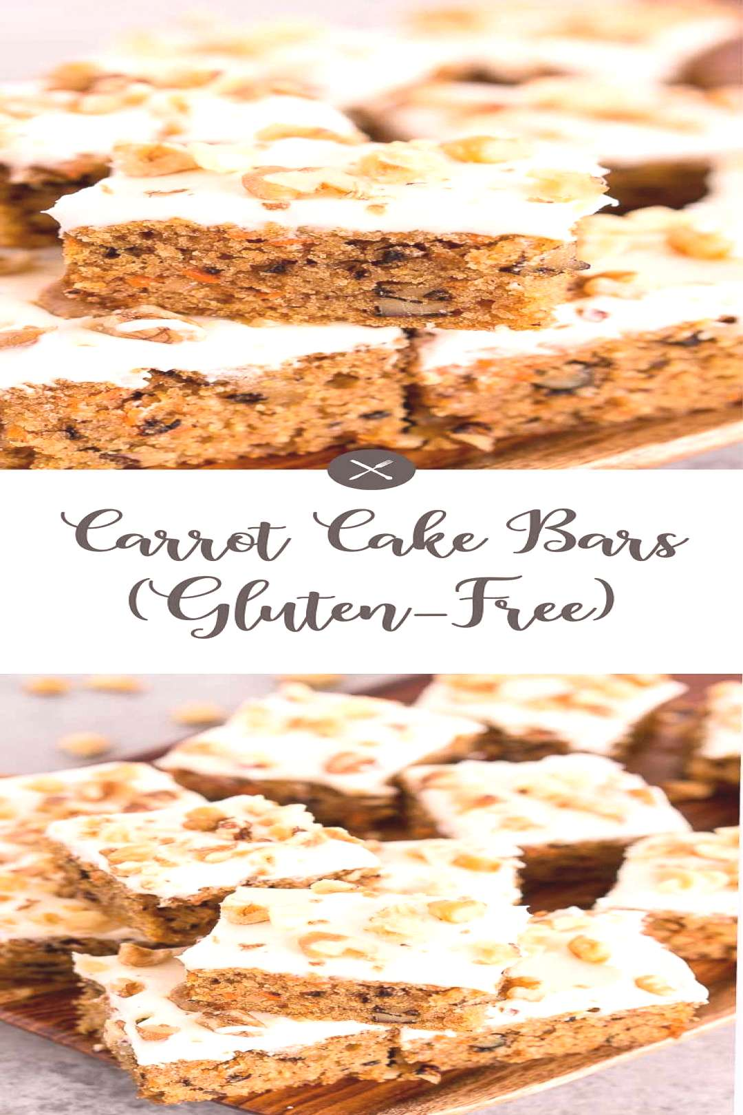 These carrot cake bars are delicious, perfectly moist and soft - easy dessert for any holiday. Simp