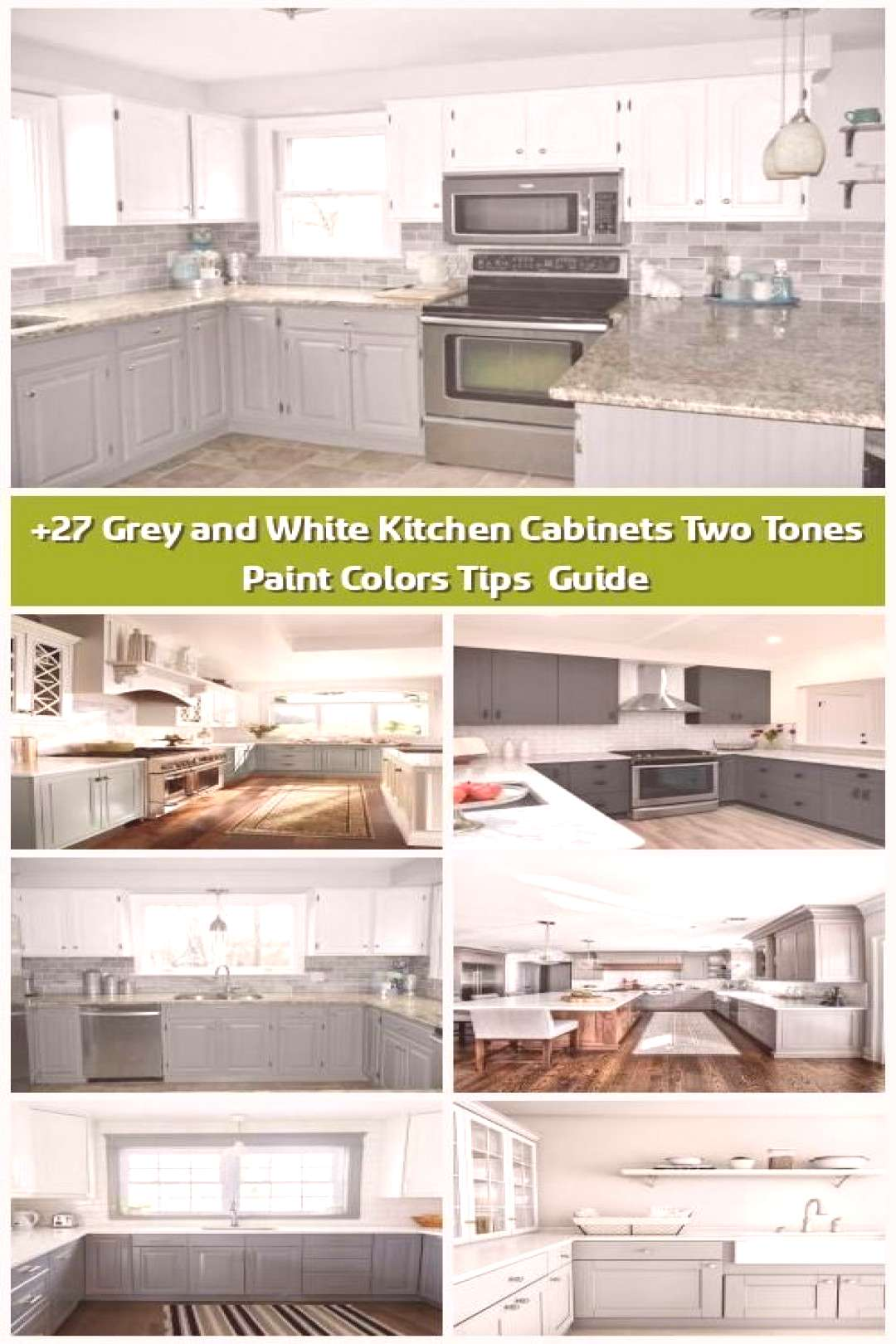 Toms Shoes 80% OFF!gt 27 Gray and White Kitchen Cabinets Two Tones Paint Colors Tips amp Guide - As .