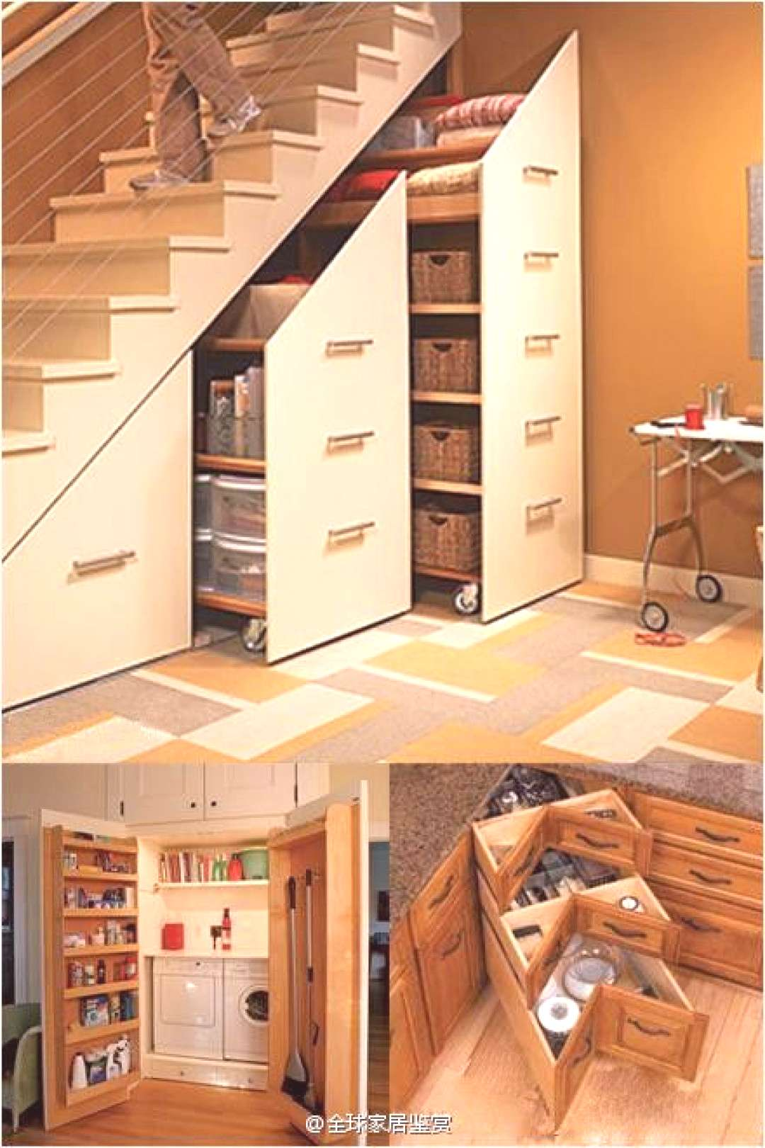 Under-Stair Storage Cabinets - I've seen this before on a home improvement show, and think it is