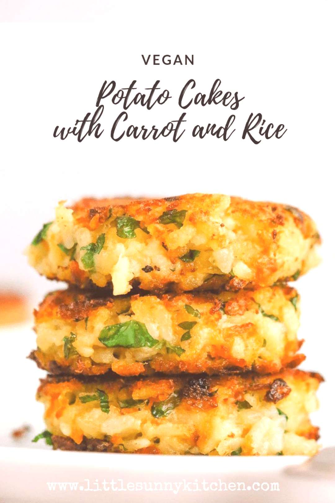 Vegan Potato Cakes with Carrot and Rice#cakes