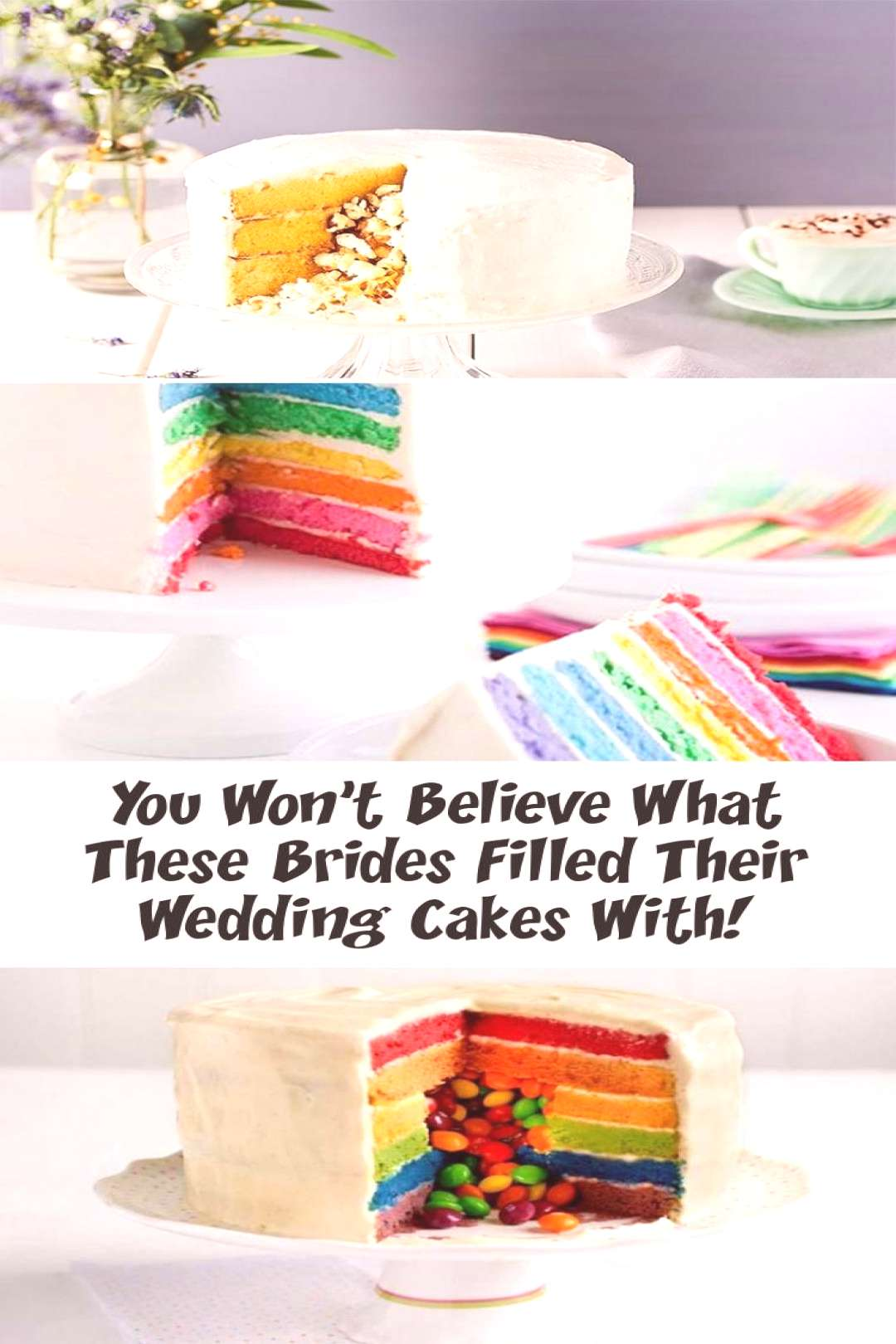 You Won't Believe What These Brides Filled Their Wedding Cakes With! - Decorations , You Won't